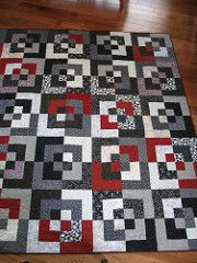 Bento Box quilt My latest quilt finish - just in time to be a Christmas present for my daughter. Jelly Roll Quilt Patterns, Quilt Block Patterns, Quilt Blocks, Quilts For Men Patterns, Man Quilt, Boy Quilts, Quilt Baby, Quilting Projects, Quilting Designs
