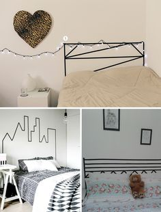 easy healthy breakfast ideas on the good day song Diy Room Decor For Teens, Diy Home Decor Bedroom, Diy Wall Decor, Tape Wall Art, Washi Tape Wall, Washi Tape Headboard, String Lights In The Bedroom, Decoration, Design
