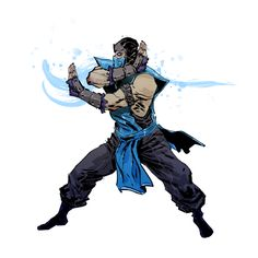 Mortal Kombat: Sub-Zero // artwork by Anjin Anhut (2011)