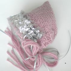 Baby Pixie Hat Designer Sequins Lace by iaFlowerPower on Etsy