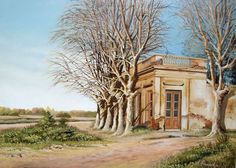 "Arte al Natural - Alberto Pincirol i-""Rincon de Ranchos"" Acrilico sobre tela"