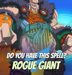 """SPELLS GALLERY: ROGUE GIANT Each nest has a black sheep. """"512 Most Stupid Goblin Sayings"""" #game #rpg #fantasy #dragons #mages #magic #spells #warlock Play now! App Store / iOS: https://itunes.apple.com/app/war-of-warlocks/id799551713?mt=8 Google Play / Android: https://play.google.com/store/apps/details?id=air.com.greengeniegames.warlocks"""