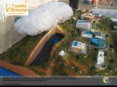 Maqueta de el ciclo del agua emat torredelcampo grupo axfito maquetas en jaén, acuíferos, precipitación, tormenta, agua