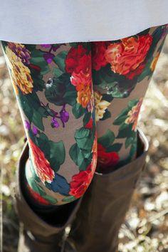 floral leggings.