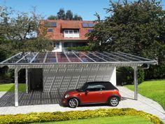 Busca imágenes de diseños de Garajes estilo Moderno de Solarterrassen & Carportwerk GmbH. Encuentra las mejores fotos para inspirarte y crear el hogar de tus sueños.