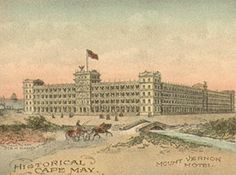 Mount Vernon Hotel, built 1853. Destroyed by fire in 1855.