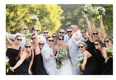 wedding party, reception, sunglasses, wedding day, bride and groom, fun, celebration, Dairy Barn Wedding, Charlotte NC Wedding Photographer, Kristin Vining Photography