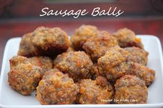 Served Up With Love: Sausage Balls