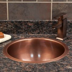 Charmant The Baina Extra Deep Round Copper Sink Is Sure To Create A Charming Focal  Point In Your Guest Bath Or Bar Area. This Smooth Copper Sink Can Be Used  As An ...