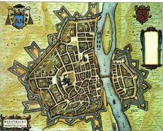 Blaeu Atlas: Maastricht ca 1662, Netherlands.