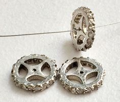 Pave Diamond Charm Pendant Diamond Wheel 925 by gemsforjewels