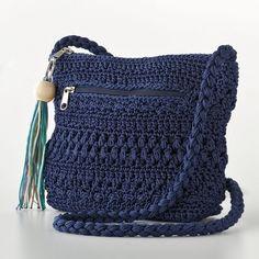 Croft and Barrow Crochet Cross-Body Handbag (39 AUD) found on Polyvore