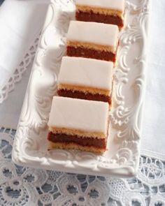 Recept, ktorý musí ovládať každá gazdinka: Domáce punčové rezy Sweet Desserts, Sweet Recipes, Cake Recipes, Czech Recipes, Ethnic Recipes, Vanilla Cake, Tiramisu, Cheesecake, Food And Drink