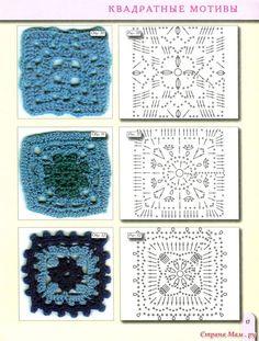 Rosetas em crochet