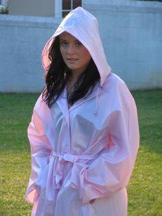 Pink Raincoat, Hooded Cloak, Rain Wear, Looking Stunning, Adele, Really Cool Stuff, Cute Girls, Latex, Up