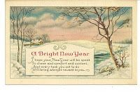 WHISPERS FROM THE PAST VINTAGE POSTCARDS TELL A STORY: A Bright New Year Message In Our 1900's Vintage Postcard