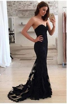 Mermaid Prom Dresses Lace Prom Dress Prom dress,Modest Evening Gowns Cheap Party Dresses Graduation Gowns from BallaDresses Modest Evening Gowns, Black Evening Dresses, Black Prom Dresses, Lace Dress Black, Pretty Dresses, Beautiful Dresses, Sexy Dresses, Dress Prom, Dress Lace