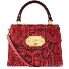 Dolce & Gabbana Welcome Python Top Handle Bag (425220 ALL) ❤ liked on Polyvore featuring bags, handbags, snake print purse, vintage purses, dolce gabbana purses, snakeskin print purse and clear purse