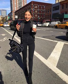 Goooood morning!! Feeling chic in NYC yesterday with my hella cool velvet backpack. You can get one too! Head over to @kiplingusa for an exclusive link shop this backpack first - today only. Or click the link in my bio to get the complete look. #makingspiritsbright #sp