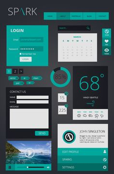 PSD Flat UI Kits Free Download | Design | Graphic Design Junction