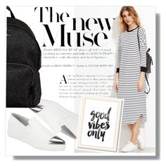 """""""◇THE NEW MUSE◇"""" by tamsy13 ❤ liked on Polyvore featuring Miu Miu, Hogan, stripes, blackandwhite and shein"""