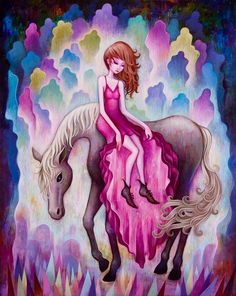 'On the Way' from GiantRobot Year of the Horse Exhibit Feb 1, 2014 – Feb 19th, 2014 by Jeremiah Ketner | Fine Art.