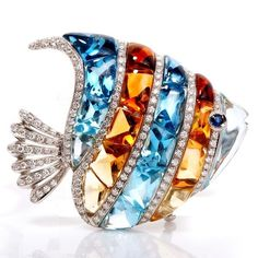 faunajewelry Antique Luxurious Fish Brooch