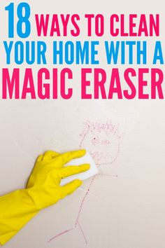 These Magic Eraser Hacks are great for projects around your home. Check out all the mind blowing ways you can use a Magic Eraser! Household Cleaning Tips, Deep Cleaning Tips, Toilet Cleaning, Green Cleaning, House Cleaning Tips, Diy Cleaning Products, Spring Cleaning, Cleaning Hacks, Cleaning Routines
