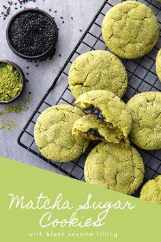 Matcha made in heaven cookies! Matcha Cookies, Sweet Chestnut, Organic Matcha, Matcha Green Tea Powder, Fresh Green, Healthy Drinks, Fun Desserts, Latte, Smoothies