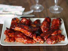 Costillas a la barbacoa / BBQ ribs #Costillasalabarbacoa #BBQribs #vanesasierra