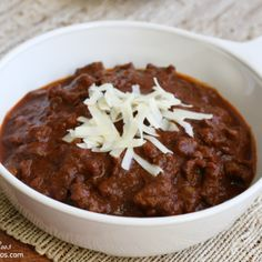 This chili is hearty and filling, and full of flavor! It is a no bean recipe, full of spices. Perfect with rice, corn bread, or tortilla chips.