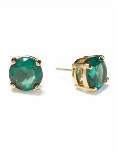 Kate Spade Gumdrop Studs - love emerald green