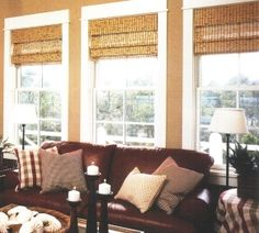 Triple woven wood shades