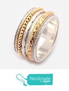 Gold filled Sterling silver Spinner rings for women meditation band worry ring engagement rings anxiety rings silver wedding rings Woodland Ring R2182 from By Nature Jewellery https://www.amazon.com/dp/B01JLI0K5Q/ref=hnd_sw_r_pi_dp_rdfsybRVKHJGE #handmadeatamazon