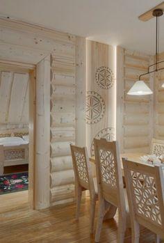 Zakopane, Poland, interior w/-folk elem Diy Home Interior, Decor Interior Design, Zakopane Poland, Condo Living, Wood Interiors, House Made, Architecture Design, Sweet Home, Design Inspiration