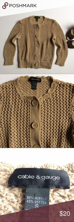 Loose Knit Cardigan Excellent used condition. Cable & Gauge Sweaters Cardigans