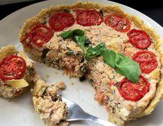 """Sună pompos dar e mai simplu decât pare la prima vedere. Acest preparat cucerește stomacul pretențios al fiecărui gurmand.  Recunosc că prima dată când am auzit de preparatul denumit """"Quiche"""" m-am uitat urât căci nu prea știam de unde… Vegan Quiche, Tofu, Vegetable Pizza, Vegetables, Breakfast, Pies, Diet, Morning Coffee, Vegetable Recipes"""