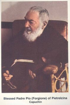 """""""The Rosary is the weapon for these times"""", Saint Padre Pio...Franchi was blessed by him in Italy when he was 7 years old..."""