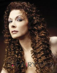 New Fashion Long Curly Brown No Bang African American Lace Wigs for Women