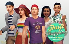 Down in Simsland - Thrift Shopping - Tons of recolors of Maxis stuff...