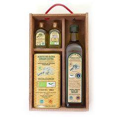 Estuche regalo con aceite de oliva virgen extra ecológico con D.O