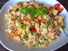 Surówka z kiszonej kapusty - Blog z apetytem Polish Recipes, Polish Food, Mozzarella, Fried Rice, Food Inspiration, Food And Drink, Snacks, Cooking, Ethnic Recipes