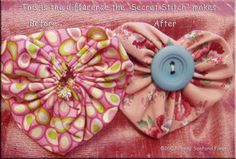 Pattern for Heart Yo-Yo... http://pennysanford.typepad.com/penny_sanford_porcelains_/2007/02/pattern_for_hea.html