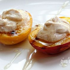 Grilled Peaches With Honey and Yogurt- .