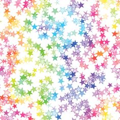 Rainbow Stars fabric by animotaxis on Spoonflower - custom fabric