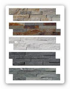 Natursteinverblender 60x15cm Wandverblender Schiefer Quarzit Fliesen Kamin