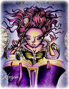 Kit and Clowder Online Colouring Classes: Spellbound