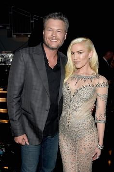 Pin for Later: 23 of the Cutest Billboard Music Awards Pictures Pictured: Gwen Stefani and Blake Shelton Blake Shelton Gwen Stefani, Blake Shelton And Gwen, Gwen And Blake, Gwen Stefani And Blake, Billboard Music Awards, Gwen And Gavin, Gwen Stefani Hair, Cute Celebrity Couples, Transparent Dress