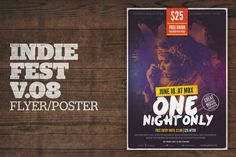 Indie Fest Poster by moodboy on Envato Elements Duo Tone, Free Entry, Graphic Design Templates, Magazine Template, Magazine Design, Designs To Draw, Layout Design, Printed Shirts, Indie