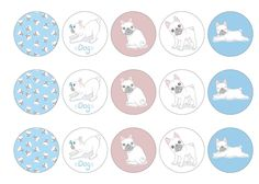 Edible cake wrap with cute French Bulldog images, available on standard rice paper, premium rice paper or icing. All products are 100% edible and easy to use. Suitable for use as cocktail toppers and ice cream decs. Next day delivery available - buy now!